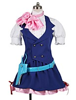 cheap -Inspired by Macross Frontier Cosplay Anime Cosplay Costumes Cosplay Suits Other Short Sleeves Cravat Shirt Skirt More Accessories Hat For