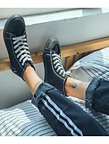 Недорогие -Муж. обувь Полотно Зима Осень Удобная обувь Кеды для Повседневные Белый Черный