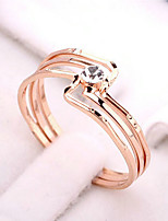 cheap -Women's Band Ring Gold Gold Plated Elegant European Party Birthday Daily Costume Jewelry