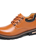cheap -Men's Shoes Nappa Leather Spring Fall Comfort Oxfords for Casual Black Yellow