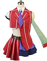 abordables -Inspiré par Macross Frontier Cosplay Manga Costumes de Cosplay Costumes Cosplay Autre Manches Courtes Chemise Haut Jupe Nœud papillon