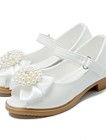 cheap -Girls' Shoes Leatherette Summer Fall Tiny Heels for Teens Flower Girl Shoes Heels Imitation Pearl Magic Tape for Party & Evening Dress