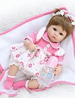 Недорогие -NPK DOLL Куклы реборн Дети 16дюймовый Силикон / Винил - Естественный тон кожи, Головка дискеты, Гофрированные и запечатанные ногти