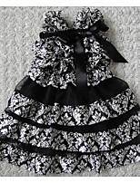 preiswerte -Mädchen Kleid Gestreift Frühling Ärmellos Niedlich Schwarz