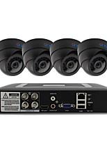 cheap -4CH DVR Kit 4pcs Dome CCTV Camera Security System Indoor Day Night IR-CUT 3.6mm