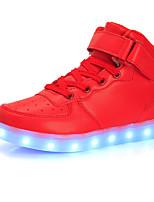 Недорогие -Мальчики / Девочки Обувь Полиуретан Весна & осень Обувь с подсветкой Кеды LED для Белый / Черный / Красный