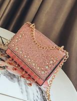 cheap -Women's Bags PU Shoulder Bag Zipper for Casual Black / Blushing Pink / Dark Brown
