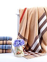 abordables -Style frais Serviette de bain Ensemble de serviette de bain, Ecossais/à Carreaux Qualité supérieure 100% Coton 100% coton Serviette