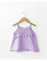 cheap -Girls' Daily Solid Tank & Cami, Cotton Summer Sleeveless Simple Active Purple