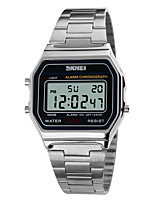 cheap -SKMEI Men's Digital Digital Watch Sport Watch Alarm Calendar / date / day Chronograph Water Resistant / Water Proof LCD Stainless Steel