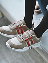 Недорогие -Муж. обувь Полиуретан Зима Осень Удобная обувь Кеды для на открытом воздухе Черный Серый Миндальный