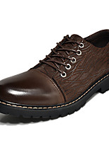 cheap -Men's Shoes Nappa Leather Spring Fall Comfort Oxfords for Casual Office & Career Black Brown