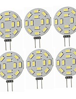cheap -SENCART 6pcs 5W 360 lm G4 LED Bi-pin Lights T 12 leds SMD 5730 Decorative Warm White Cold White 12-24V
