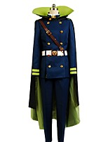 cheap -Inspired by Seraph of the End Cosplay Anime Cosplay Costumes Cosplay Suits Other Long Sleeves Blouse Pants Gloves Cloak More Accessories