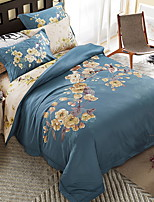 preiswerte -Bettbezug-Sets Blumen 4 Stück Polyester / Baumwolle 100% Baumwolle Bedruckt Polyester / Baumwolle 100% Baumwolle 1 Stk. Bettdeckenbezug 2