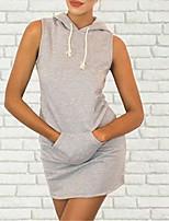 abordables -Femme Vacances Basique Chic de Rue Mince Gaine Robe Rayé Taille haute Mini
