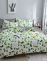 cheap -Duvet Cover Sets Geometric Pattern 3 Piece Poly/Cotton Reactive Print Poly/Cotton 1pc Duvet Cover 1pc Sham 1pc Flat Sheet