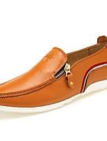 Недорогие -Муж. обувь Кожа Наппа Leather Весна Лето Формальная обувь Удобная обувь Мокасины и Свитер для Повседневные Офис и карьера Белый Черный