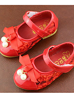 cheap -Girls' Shoes Leatherette Spring Fall Tiny Heels for Teens Comfort Heels for Casual Gold Red Pink