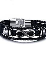 preiswerte -Herrn 1pc Ketten- & Glieder-Armbänder - Modisch Geometrische Form Schwarz Armbänder Für Geschenk Alltag