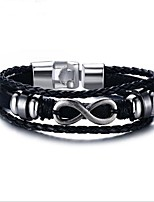 cheap -Men's 1pc Chain Bracelet - Fashion Geometric Black Bracelet For Gift Daily