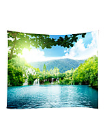 cheap -Garden Theme Landscape Wall Decor 100% Polyester Contemporary Modern Wall Art, Wall Tapestries Decoration