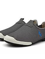 Недорогие -Муж. обувь Тюль Лето Удобная обувь Мокасины и Свитер для Повседневные Темно-синий Серый Вино