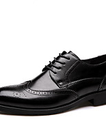 cheap -Men's Shoes Patent Leather Spring Fall Comfort Oxfords for Casual Office & Career Black Camel