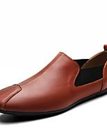 Недорогие -Муж. обувь Дерматин Кожа Весна Лето Удобная обувь Мокасины и Свитер для Повседневные Белый Черный Коричневый