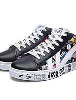 abordables -Homme Chaussures Cuir Automne Hiver Confort Basket pour Décontracté De plein air Blanc Noir Rouge