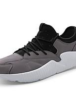 abordables -Homme Chaussures PU de microfibre synthétique Printemps Automne Semelles Légères Basket pour Décontracté Noir Gris Marron