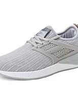 abordables -Homme Chaussures Tulle Printemps Automne Confort Basket pour Décontracté Noir Gris Bleu