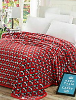 baratos -Velocino de Coral, Impressão Reactiva Geométrica Poliéster / Poliamida cobertores
