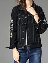 cheap -Women's Denim Jacket - Geometric, Print
