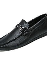 Недорогие -Муж. обувь Резина Весна Осень Мокасины Мокасины и Свитер для на открытом воздухе Черный Серый Верблюжий