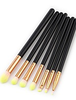 cheap -7 pcs Eyeshadow Brush Synthetic Hair Eco-friendly Soft Full Coverage Wood Cosmetic Eco-friendly Soft Full Coverage