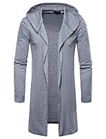 cheap -Men's Slim Hoodie - Solid