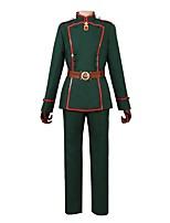 abordables -Inspiré par Saga de Tanya le Mal Autre Manga Costumes de Cosplay Costumes Cosplay Autre Manches Longues Manteau Pantalon Ceinture de Tour