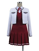 cheap -Inspired by Sword Art Online Asuna Yuuki Cosplay Anime Cosplay Costumes Cosplay Suits Other Long Sleeves Shirt Top Dress More Accessories