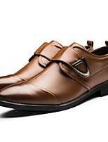 cheap -Men's Shoes PU Spring Fall Comfort Loafers & Slip-Ons for Casual White Black Brown