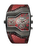 abordables -Mujer Pareja Cuarzo Reloj de Moda Reloj Deportivo Reloj Casual Chino Resistente al Agua Reloj Casual Cuero Auténtico Banda Lujo Moda