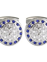 cheap -Circle Blue Cufflinks Copper Classic Vintage Daily Formal Men's Costume Jewelry