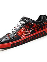 Недорогие -Муж. обувь Искусственное волокно Весна Осень Удобная обувь Кеды для Повседневные Черный/Красный Черный / синий Черный/Желтый