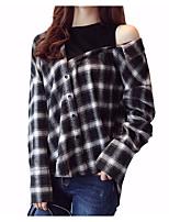 cheap -Women's Shirt - Solid Shirt Collar