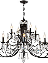 cheap -LightMyself™ Rustic / Lodge Artistic Chandelier Pendant Light Ambient Light - Crystal, 110-120V 220-240V Bulb Not Included