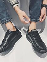 preiswerte -Herrn Schuhe PU Frühling Herbst Komfort Sneakers für Normal Weiß Schwarz