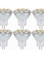abordables -SENCART 6pcs 5W 160 lm MR11 LED à Double Broches MR11 12 diodes électroluminescentes SMD 5060 Décorative Blanc Chaud Blanc 12-24V