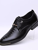 cheap -Men's Shoes Leatherette Spring Fall Comfort Oxfords for Casual Black