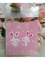 cheap -Square Shape Plastic Favor Holder with Pattern / Print Favor Bags - 1set