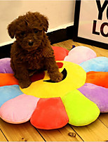 cheap -Cats Dog Bed Pet Mats & Pads Multi Color Flower/Floral Portable Foldable Breathable Rainbow For Pets